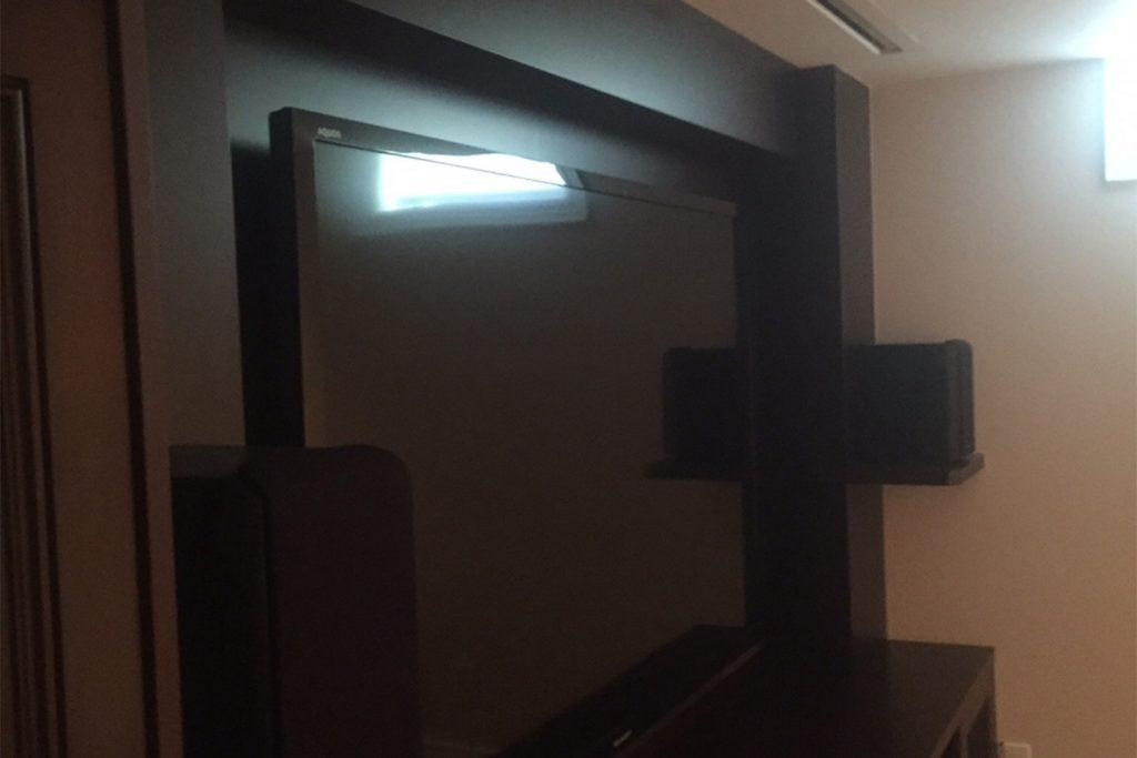 2. TV Install on Custom Unit