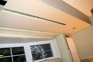 4. Drywall Covering Drop Down Screen