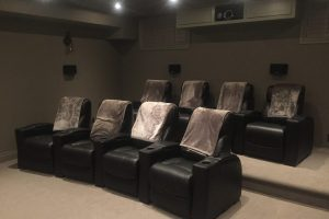 Seat Home Theater with Riser and Custom Projector Casing