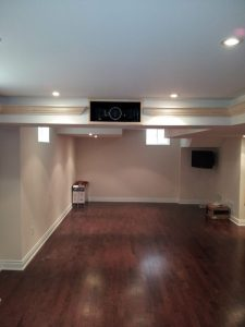 Facing back Of Home Theater Room