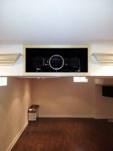 Projector Hidden inside Bulkhead
