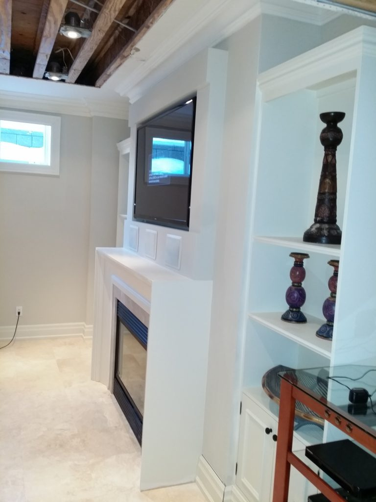 TV Install with 3 In-wall speakers