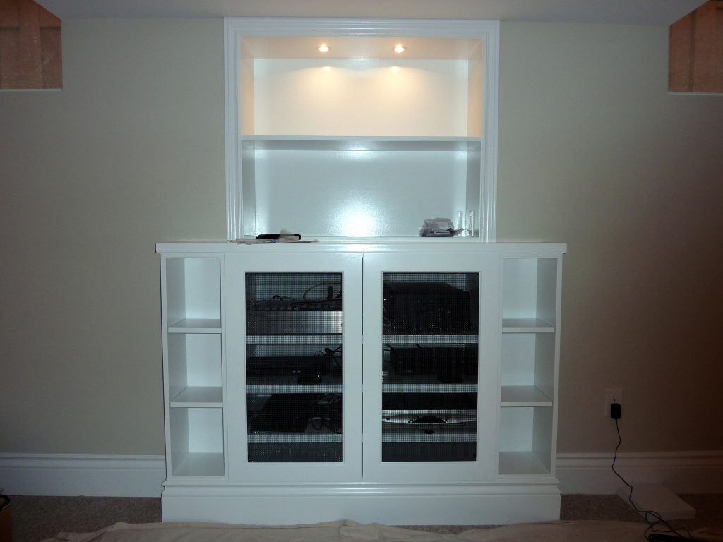Custom Cabinetry for Home Theater Equipment