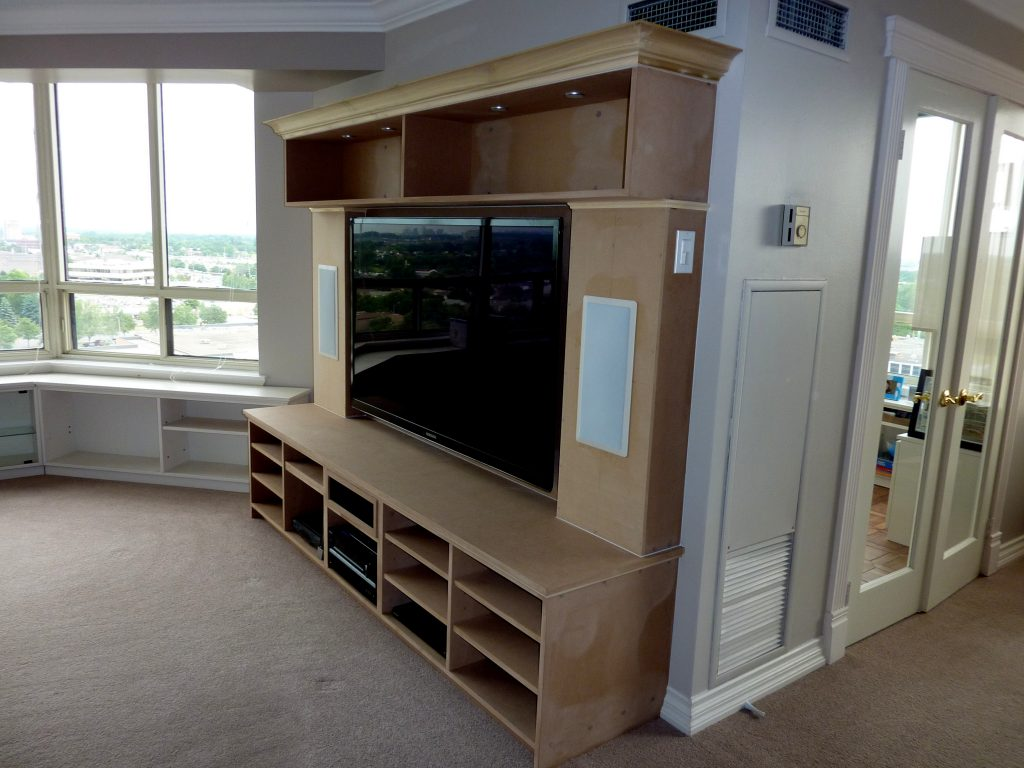 Custom Home Entertainment Unit