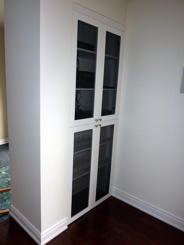Audio Closet with Black Screening
