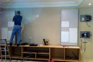 2. Before In-Wall Invisible Speakers