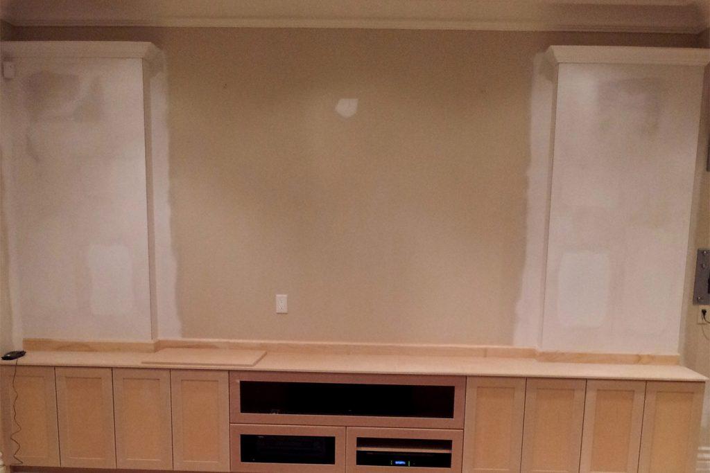 3. Drywall - Custom Shelving Unit