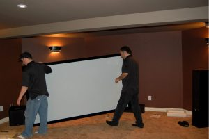 6. Projection Screen Ready for Install