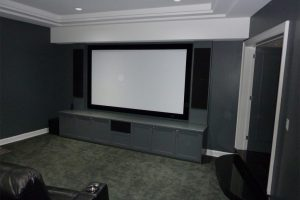 3. New Home Theater Look + Custom Cabinetry