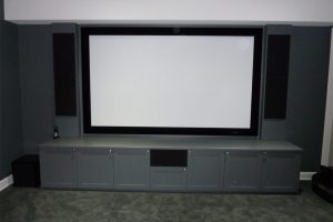4. New Home Theater Look + Custom Cabinetry