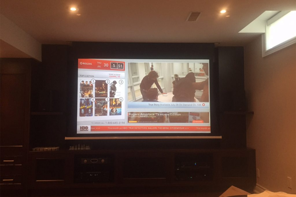 5. Projector On and TV Off