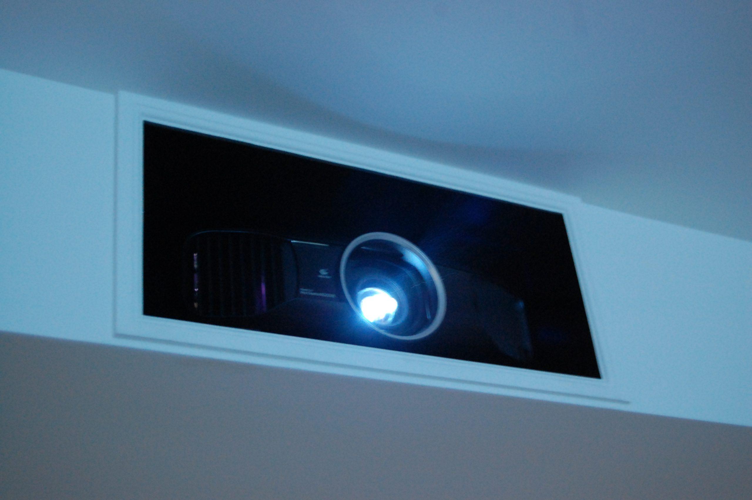 Projector in Custom Bulkhead