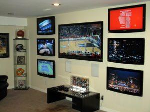7 TV Sports Lounge in Basement