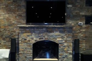 TV Above a Fireplace in Thornhill