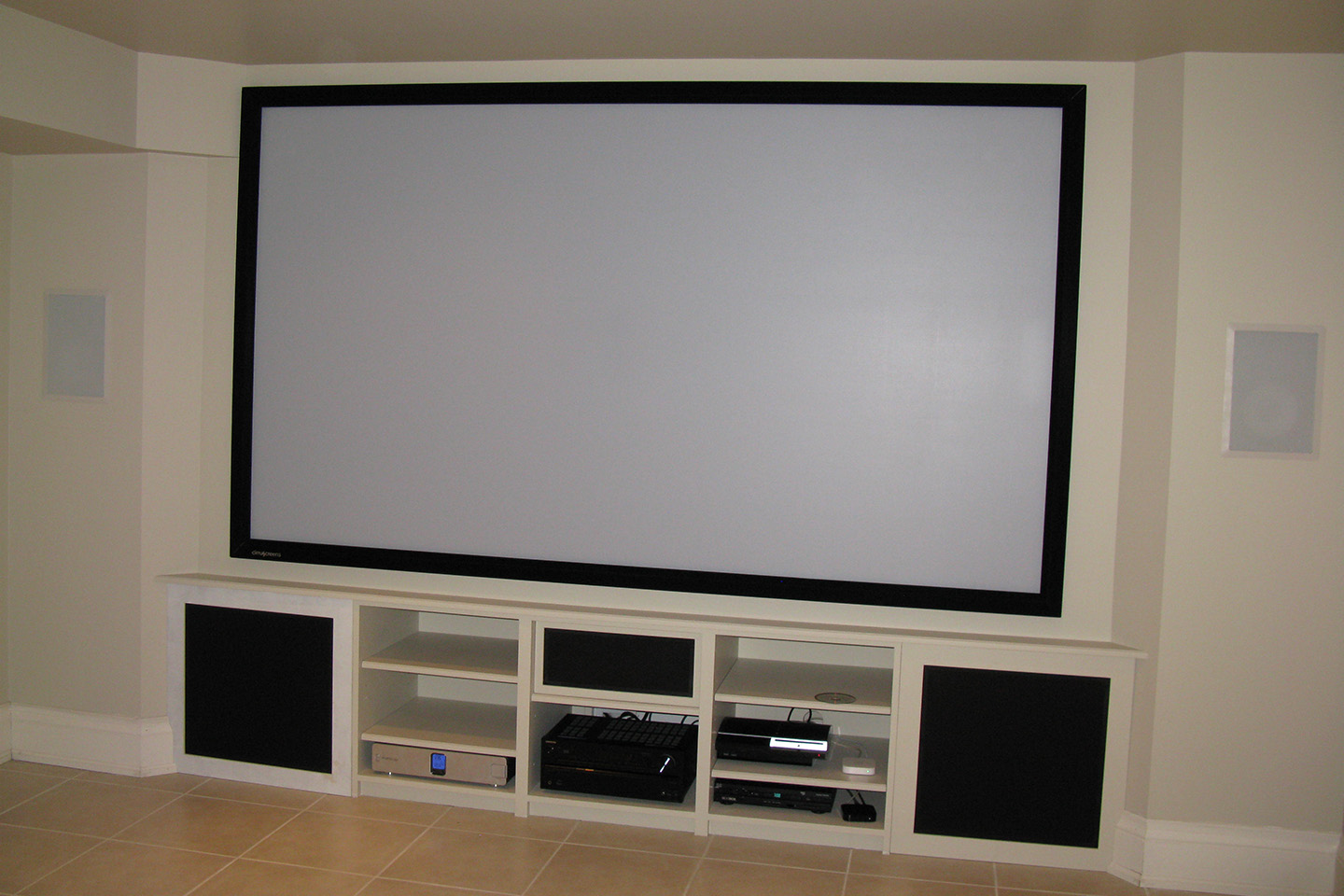 Custom Cabinetry and Projection System by Toronto Home Theater