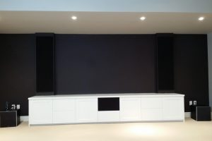 In Wall Speakers with Custom Covers, Dual Subs