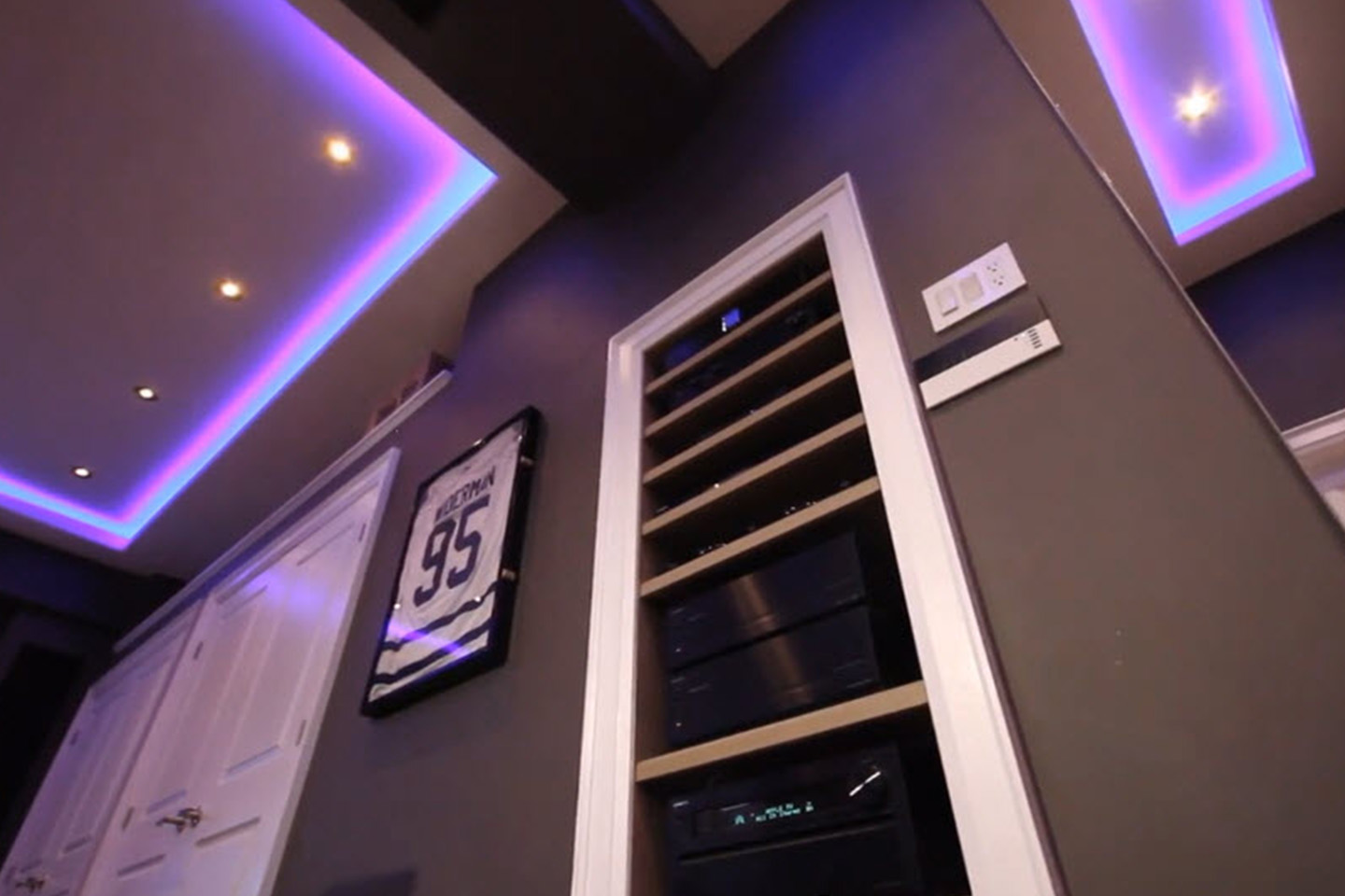 Custom Audio Unit In-Wall for Receiver, Amps & Video Boxes
