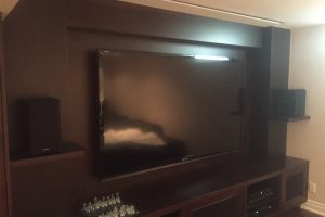 1. TV Install with Retractable Screen