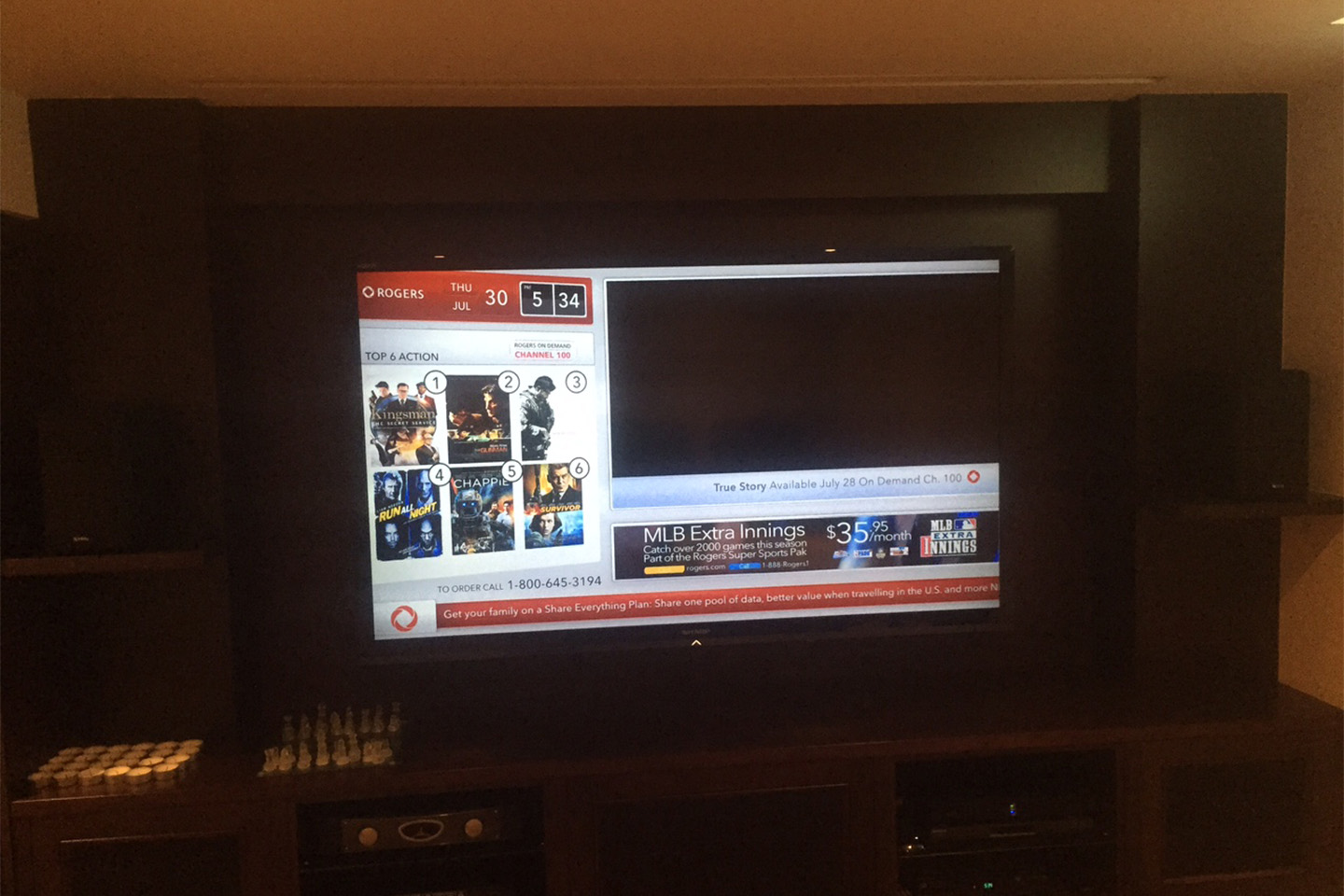 3. TV Install with Bookshelf Speakers and In Cabinet Sub