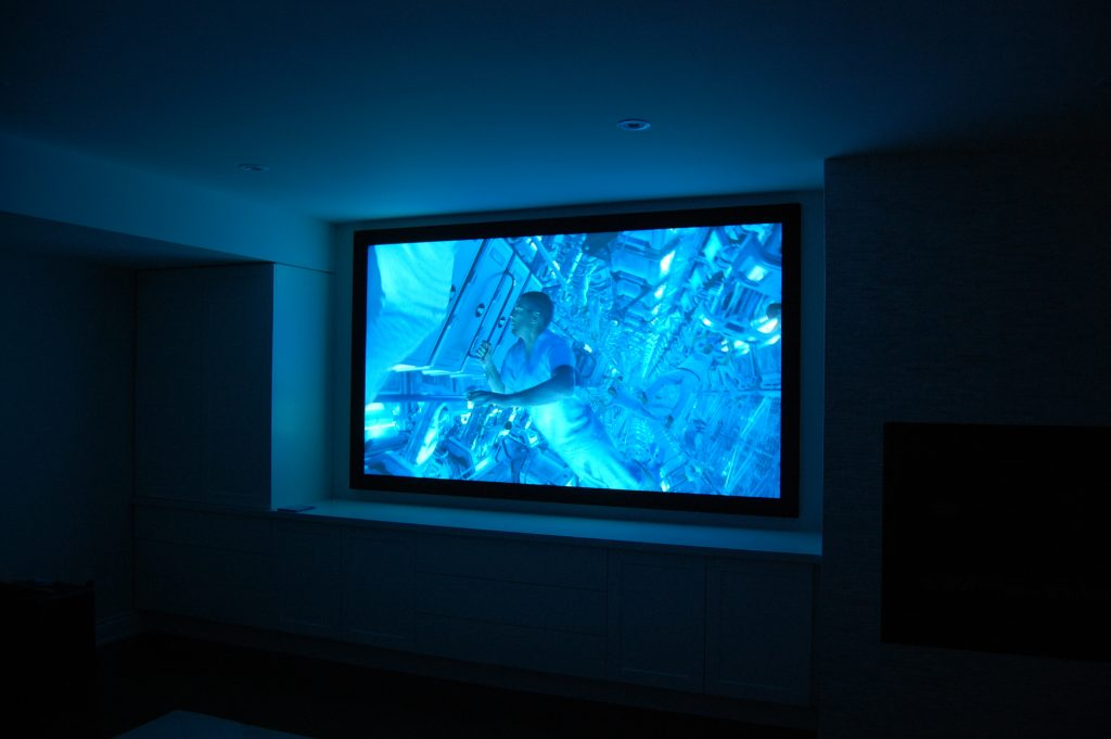 Projection Screen and Home Theater